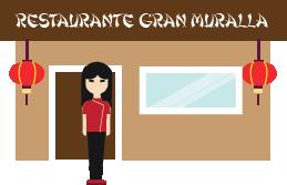 Ilustración de un restaurante chino