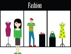 Ilustración de una tienda de ropa