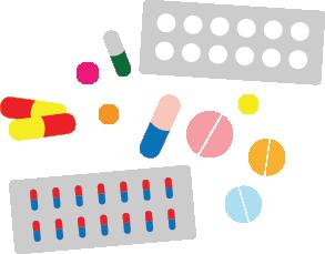 Imagen de pastillas y medicamentos