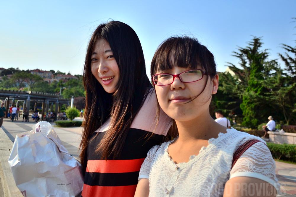 Estas chicas me invitaron a visitar Chengdu con ellas